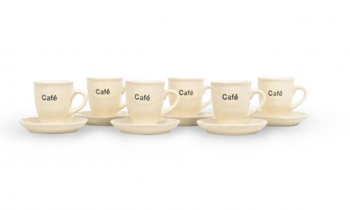 Conjunto 6 chávenas café JOM KL8162-232