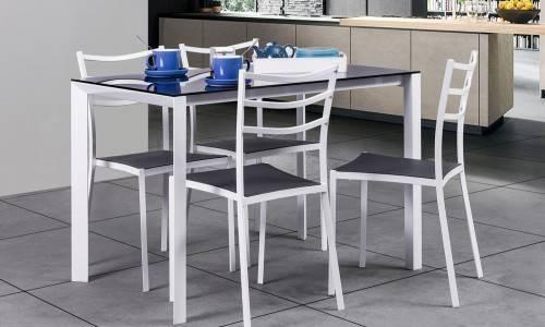 Conjunto mesa + 4 cadeiras JOM YS2506 + YS2501C