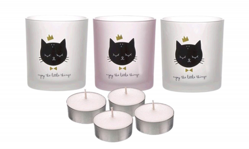 conjunto 3 tea lights JOM 2170272 CAT LOVER