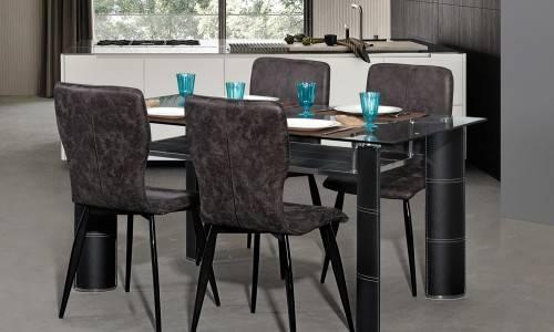 Conjunto Mesa + 4 Cadeiras JOM GFT-001 /  DC-1909