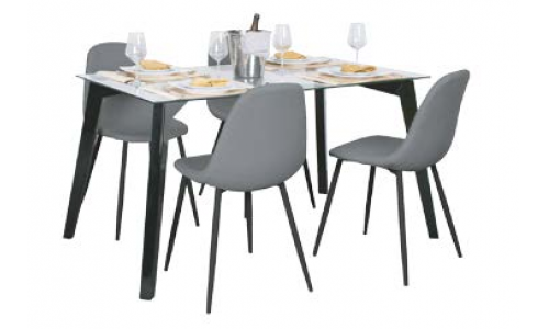 Conjunto mesa + 4 cadeiras JOM T-1041 / C-802K