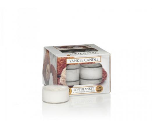 Conjunto 12 tealights YANKKE CANDLE 1205404 SOFT BLANKET