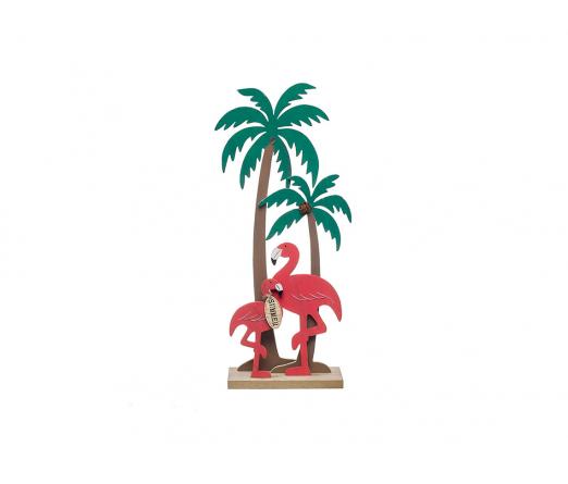 Decoração Flamingos Palmeira JOM 83900
