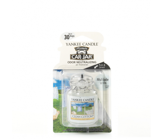 Ambiantador carro YANKKE CANDLE 1220878E CLEAN COTTON