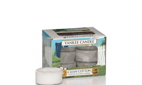 Caixa 12 velas tealights YANKKE CLEAN COTTON 1016718