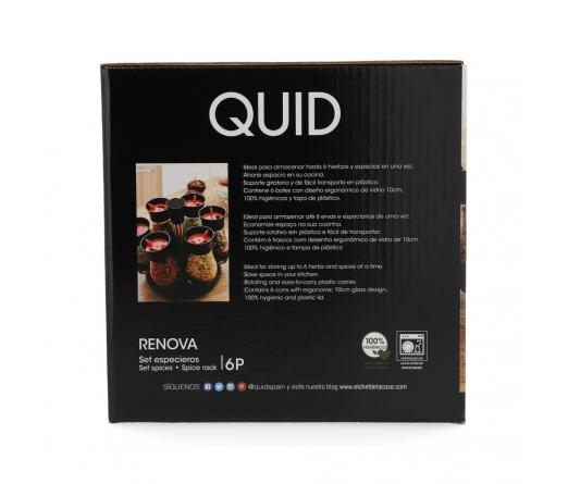 Conjunto frascos especiarias QUID RENOVA 7844002