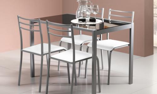 Conjunto Mesa + 4 Cadeiras JOM YS2458M / YS2458C