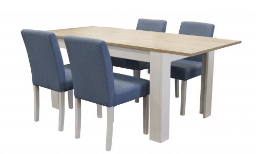 Conjunto Mesa + 4 Cadeiras JOM OF4586A / LW-8132