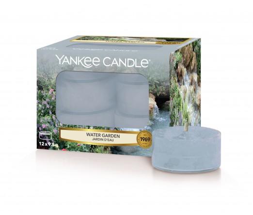 Caixa 12 velas tealights YANKKE WATER GARDEN YK1651508E