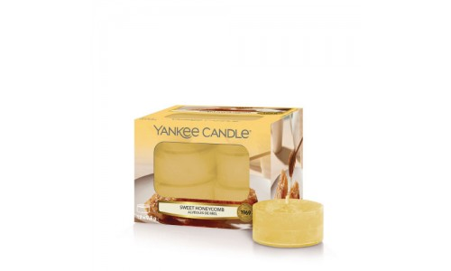 Caixa 12 velas tealights YANKKE SWEET HONEYCOMB YK1651506E