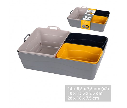 Conjunto 4 cestos multiusos JOM 32414