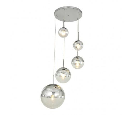 Candeeiro GLOBAL LIGHT GLASS-5B CHROME