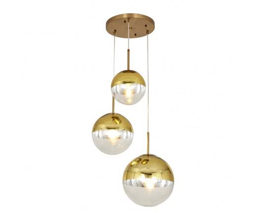Candeeiro suspenso GLOBAL LIGHT GLASS-3B GOLD