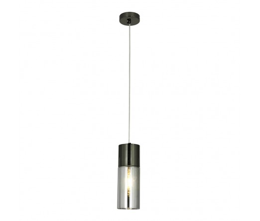 Candeeiro suspenso GLOBAL LIGHT GLASS-PEND NICKEL BLACK