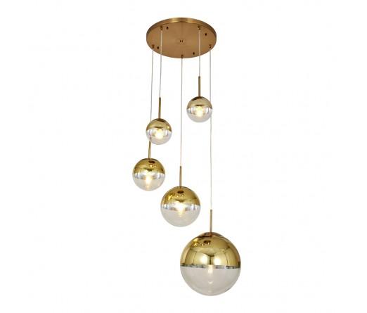Candeeiro suspenso GLOBAL LIGHT GLASS-5B GOLD
