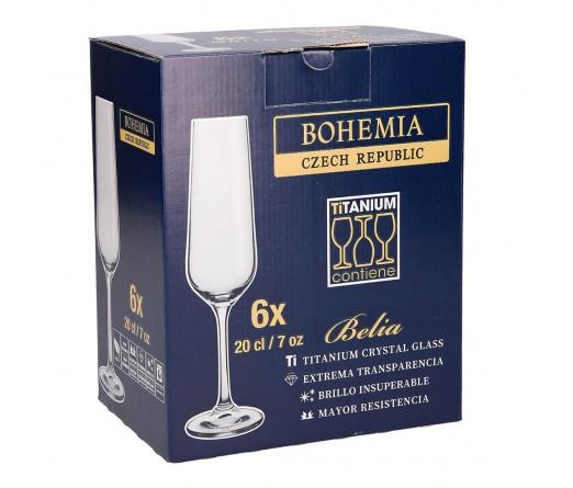 Conjunto 6 flutes BOHEMIA BELIA