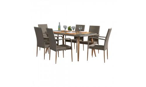 Conjunto Mesa + 6 Cadeiras JOM T362A-Y383
