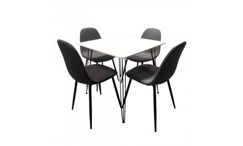 Conjunto Mesa + 4 Cadeiras JOM XST-106 / XS2442