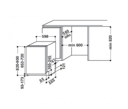 Máquina de Lavar Loiça HOTPOINT-ARISTON LTB 4B019 EU