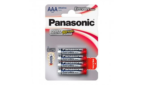 PILHA PANASONIC LR03 EVERYDAY BL4