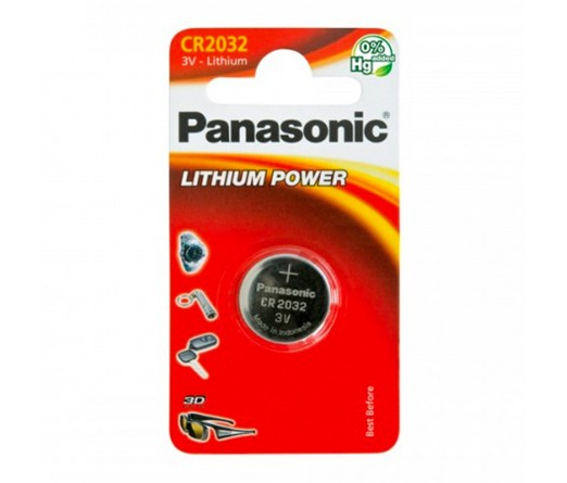 PILHA PANASONIC CR2032 LITHIUM