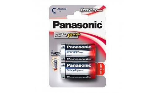 PILHA PANASONIC LR14 EVERYDAY BL2