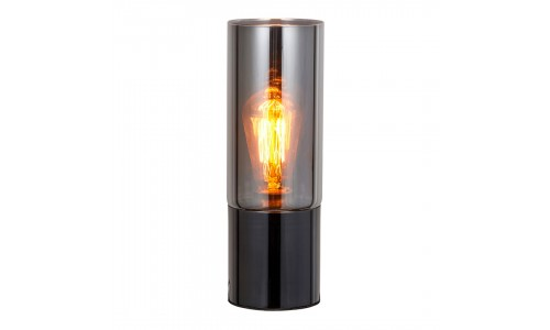 Candeeiro mesa GLOBAL LIGHT GLASS-TL-NICKEL BLACK