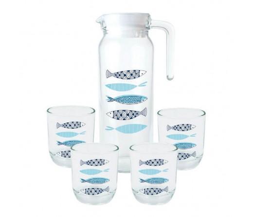 Conjunto Jarro + 4 copos JOM MEDITERRANE 292205
