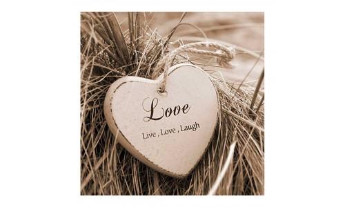 Tela impressa ARTIS 607350 LIVE LOVE LAUGH