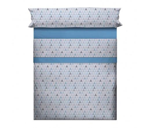 Jogo cama lençois JOM ROMA AZUL
